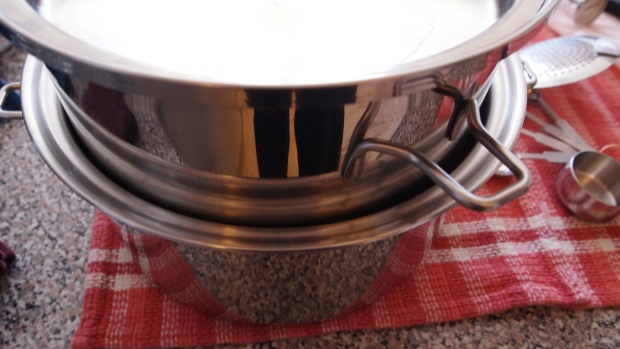 Used as a double boiler almost any pot can be used to make cheese