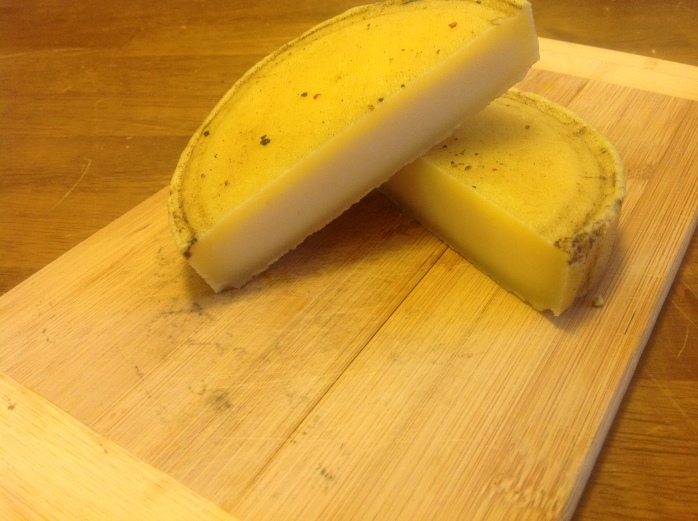 If you notice the rind development, it is starting to go into the paste of the cheese.
