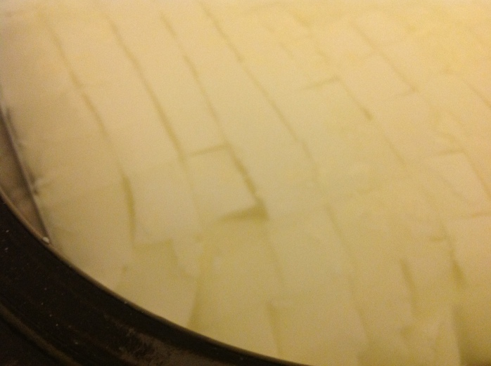 Little close up of the curd