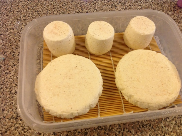 I also salted the cheese using a natural sea salt that I think gives a great flavour to cheese.