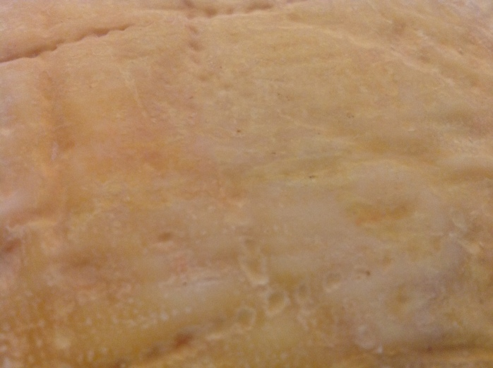 A Close up of the second cheese's rind