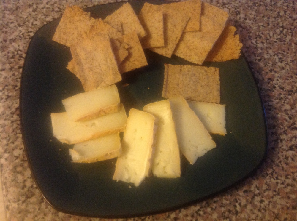 Finally the sun had set, the kids were in bed, it was cheese time.