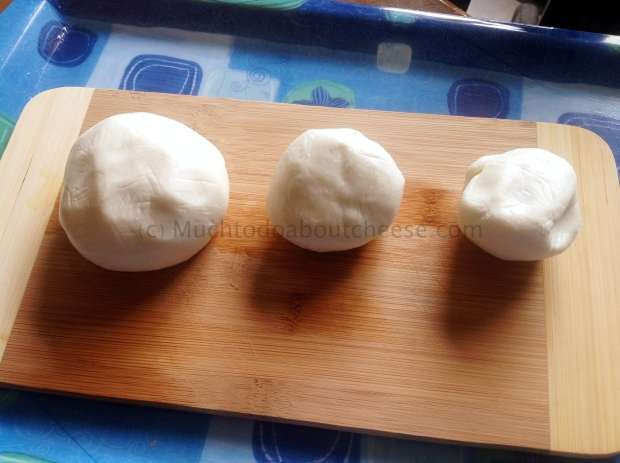 Here are the three wise cheeses after the cold soak.