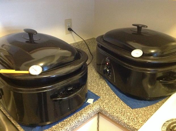 I split the make having 13 Litres in each vat.