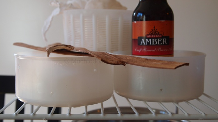 Spruce Straps, Moulds and Alley Kat's Ambert Ale.  A match made in cheese heaven.