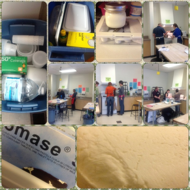 Cheese Making Class Collage