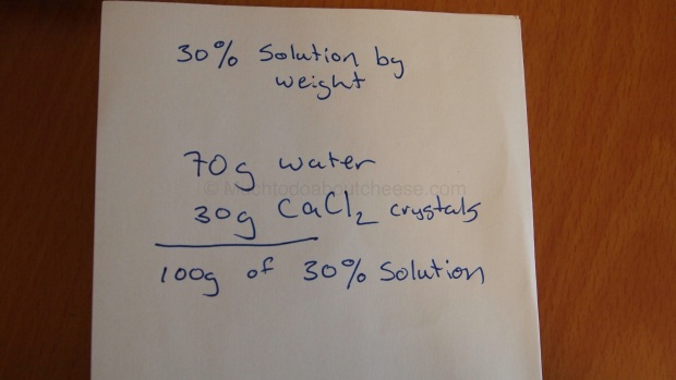 This is the basic calculation for creating the solution.