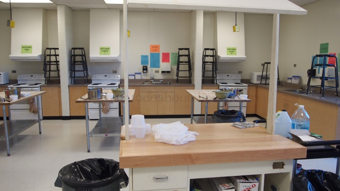 There are two stations to the right of the lab.