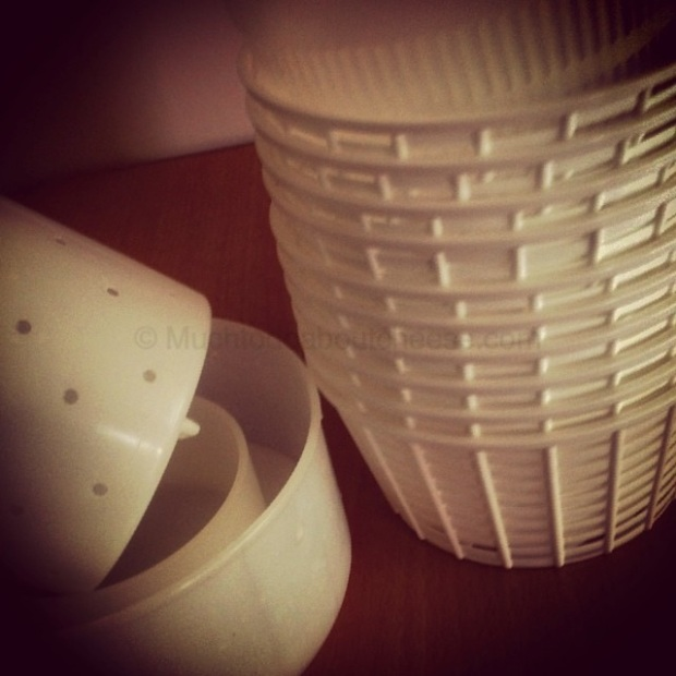 I decided to bring my ricotta baskets and a few moulds.  Picture from my Instagram feed.