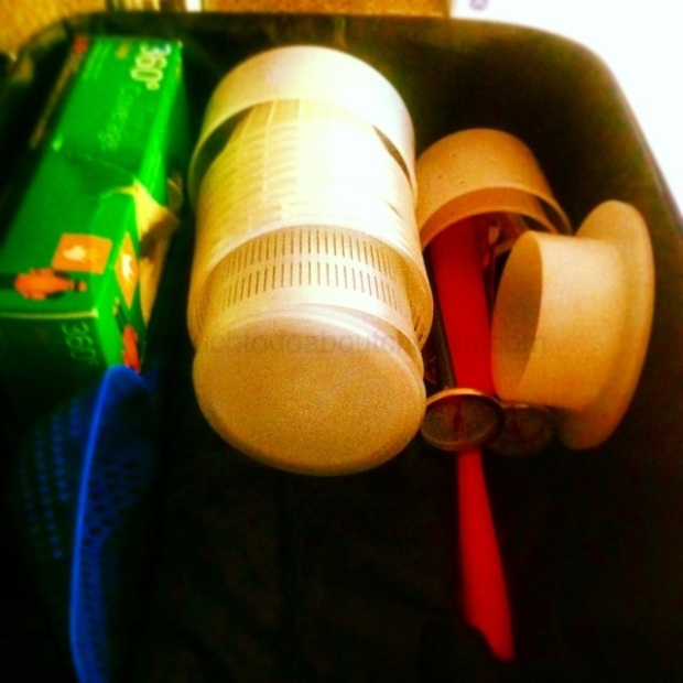 I had a small suitcase that I was using for supplies, it had to be checked due to the fact I had my curd knives packed in it. Picture from my Instagram feed.