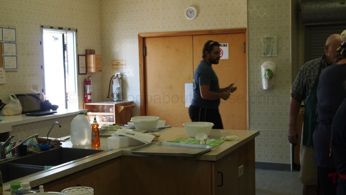 """The kitchen had a great setup  to allow for """"work stations"""""""
