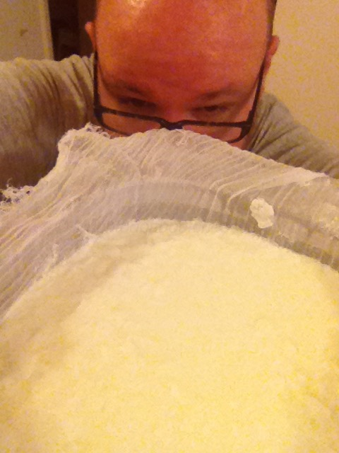 So much that I took this curd selfie.