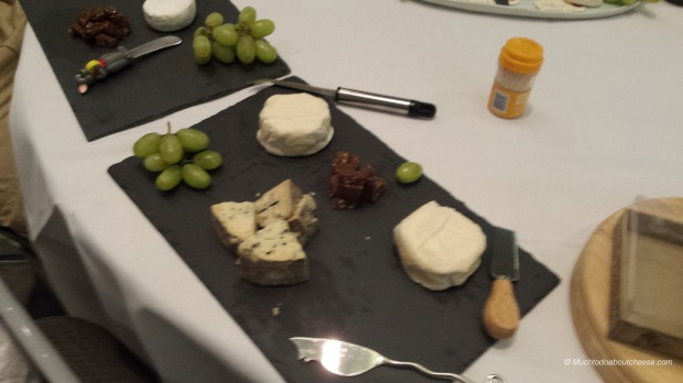 I brought two experimental bloomy semi lactic cheeses that used Thistle Rennet, and Moraine Blue
