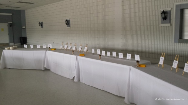 We even had the table setup for the Awards Ceremony and Tasting on Sunday