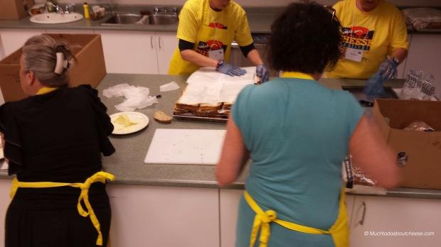 Preparing Sandwiches for the showdown!