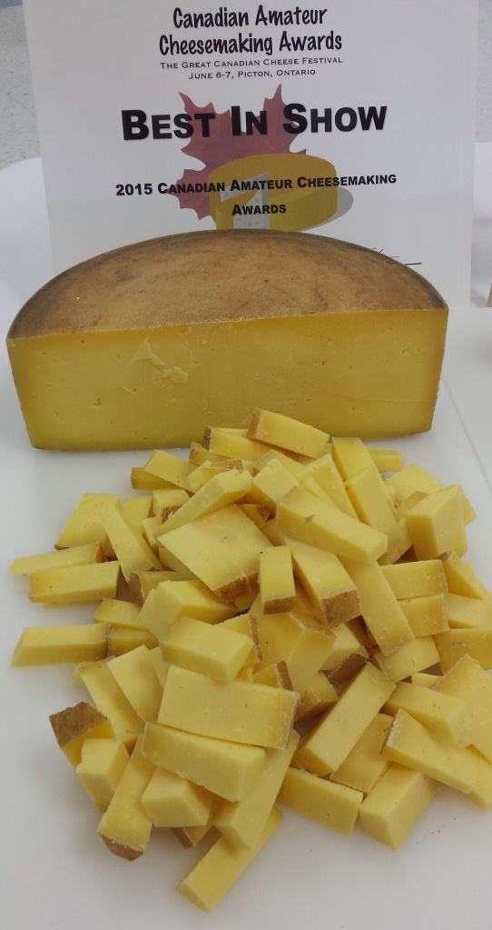 Clover by Mira Schenkel Best In Show 2015 Canadian Amateur Cheesemaking Awards