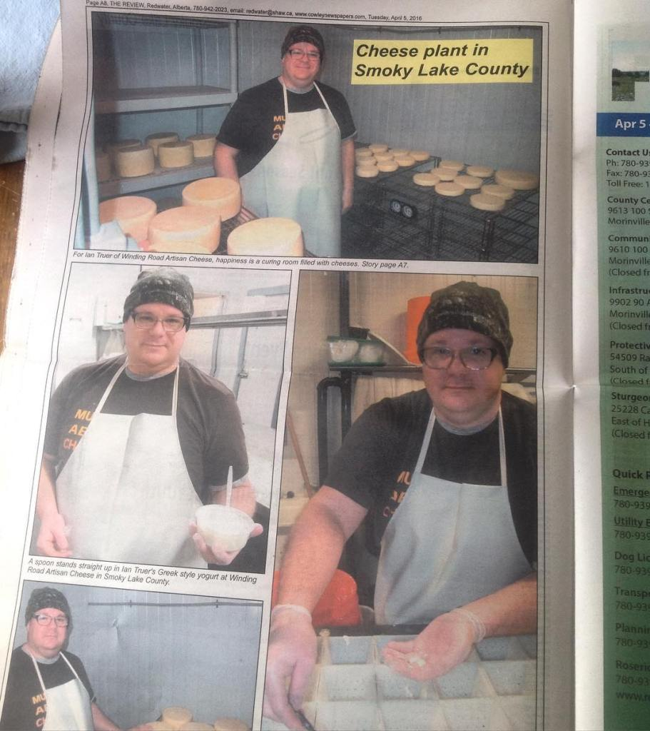 I made it into a local newspaper.