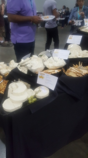 All the cheeses were put out by their categories.